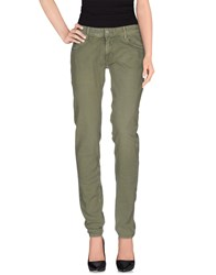 Care Label Denim Denim Trousers Women Military Green