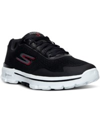 Skechers Men's Gowalk 3 Reaction Walking Sneakers From Finish Line Black White Red