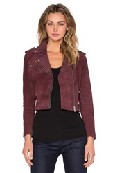 Obey City Moto Suede Jacket Red