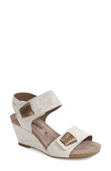 Women's Mephisto 'Jackie' Wedge Sandal Light Sand Savana