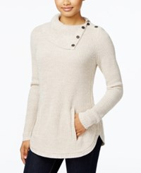 Styleandco. Style Co. Petite Marled Envelope Neck Sweater Only At Macy's Hammock Heather Ivory Combo