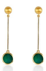 Dean Davidson Women's Semiprecious Stone Sphere Drop Earrings Gold Green Onyx