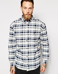 Dr. Denim Dr Denim Shirt Tower Oversized Buttondown Check Ivorycheck