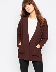 Vero Moda Longline Tailored Blazer Black Coffee