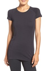 Zella Women's 'Level Up' Seamless Tee Black Heather