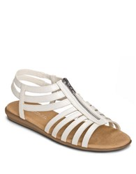 Aerosoles Clothesline Faux Leather Gladiator Sandals White