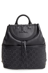 Tory Burch 'Fleming' Quilted Lambskin Leather Backpack