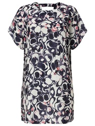 Phase Eight Marble Print Tunic Dress Blue