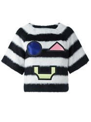 Emporio Armani Striped Patch Jumper Black