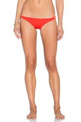 Vitamin A Samba Ruched Bikini Bottom Red