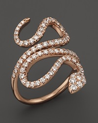 Bloomingdale's Diamond Snake Ring In 14K Rose Gold 1.0 Ct. T.W. Pink