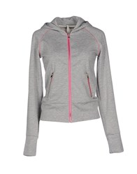 Met Topwear Sweatshirts Women Light Grey