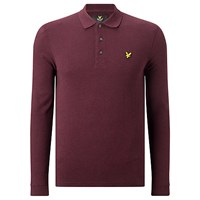 Lyle And Scott Long Sleeve Polo Shirt Claret Marl