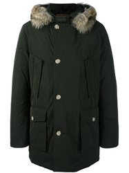 Woolrich Hooded Parka Coat Green