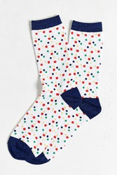 Urban Outfitters Small Dots Crew Sock White