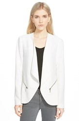 Trouve Women's Trouve Drapey Open Blazer White Snow