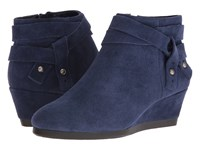 Nine West Lina Navy Suede Women's Boots Blue
