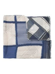 Pierre Louis Mascia Checked Scarf Blue