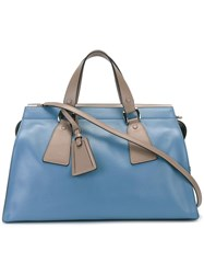 Giorgio Armani Oversized Shoulder Bag Blue