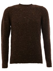 Roberto Collina Flocked Pullover Brown
