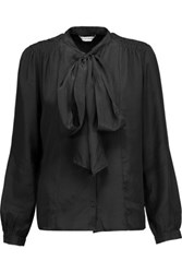 W118 By Walter Baker Theo Silk Crepe De Chine Top Black