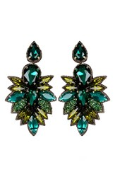 Suzanna Dai Women's 'Cuzco' Drop Earrings Olive Teal