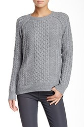 Vince Cable Knit Crew Sweater Gray