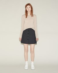Hache Button Front Skirt Grey