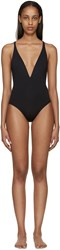 Proenza Schouler Black Deep V Swimsuit