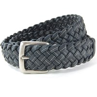 Cliff Belts Wide Braided Cork Belt Black