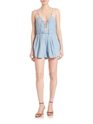Bec And Bridge Talisman Denim Romper Bleached