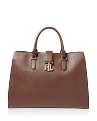 Ralph Lauren Carrington Brigitte Tote Burnished Brown