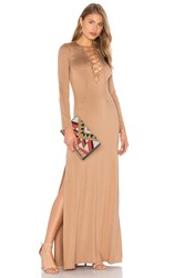 Rachel Pally Long Sleeve Jolene Dress Beige