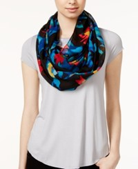 Calvin Klein Floral Chiffon Infinity Scarf