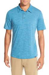 Patagonia Daily Merino Wool Blend Performance Polo Underwater Blue