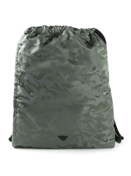 Emporio Armani Camouflage Drawstring Backpack Green