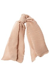 Agnona Cashmere Blend Scarf With Silk Beige