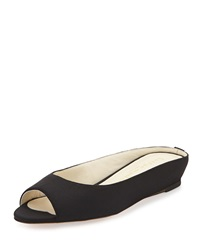 Tangier Peep Toe Demi Wedge Slide Bettye Muller