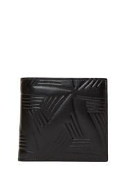 Marni Embossed Leather Fold Wallet Black