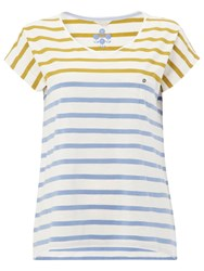 White Stuff Annie Stripe Jersey T Shirt Nectar Yellow