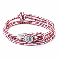 Anchor And Crew Red Dash Dundee Rope Bracelet