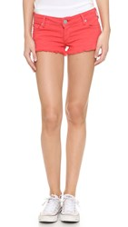 True Religion Joey Cutoff Shorts With Flap Pockets Red