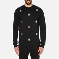 Versus By Versace Men's Embellished Crew Sweatshirt Black