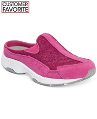 Easy Spirit Traveltime Sneakers Women's Shoes Dark Pink Sparkle