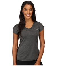 The North Face Initiative Short Sleeve Tnf Black Heather Women's Short Sleeve Pullover Gray