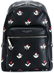 Marc Jacobs Embellished Tulip Print Backpack Black