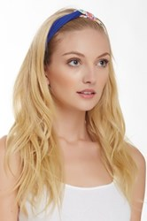 Cara Accessories Floral Solid Looped Narrow Turban Headband Multi