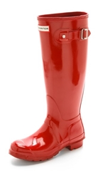 Hunter Original Tall Gloss Boots Military Red