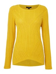 Therapy Rib Detail Cable Jumper Yellow