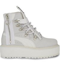 Puma Platform Leather Sneaker Boot White Nubuck